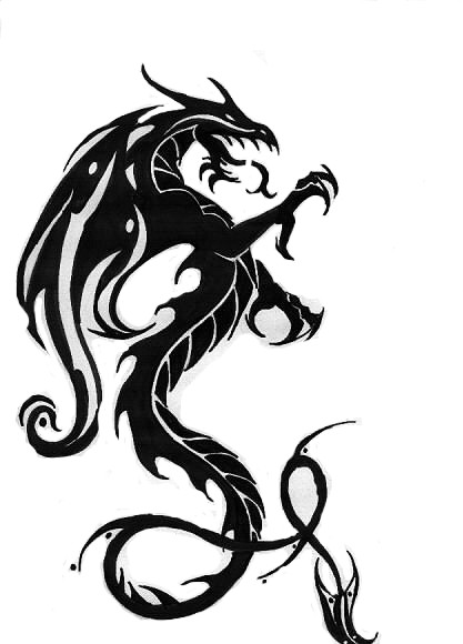 New Tribal Dragon Tattoo Designs