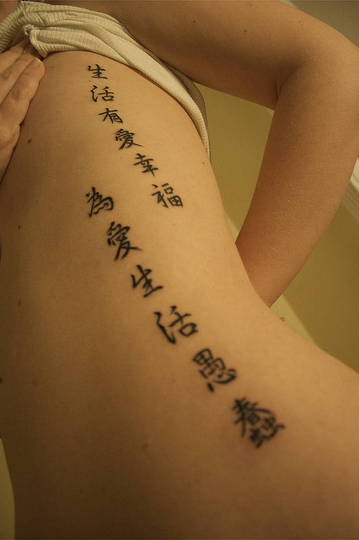 Chinese Calligraphy Tattoo