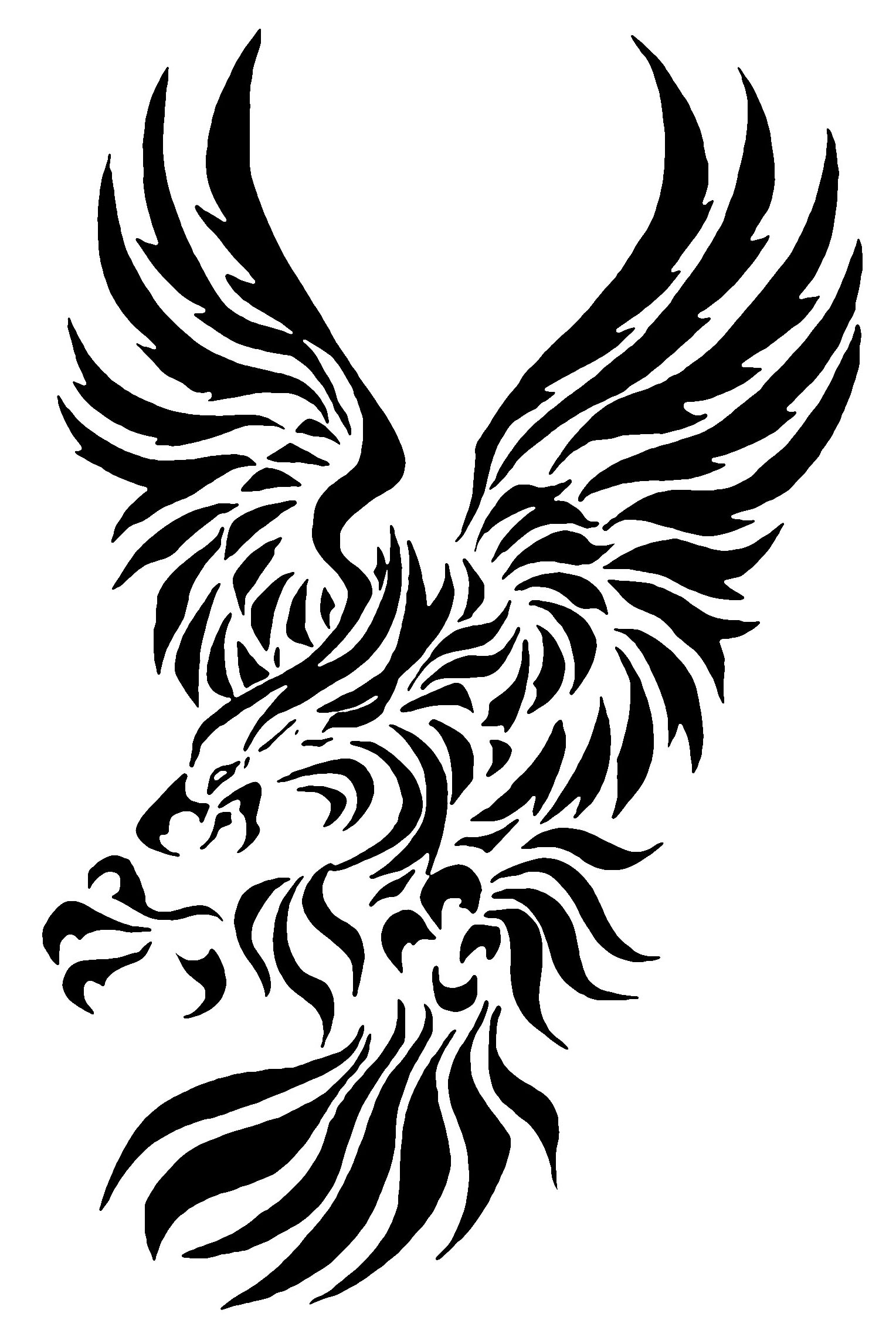 Tribal Eagle Tattoo Design Idea