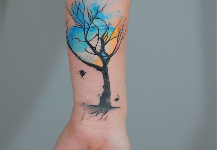 Brilliant Watercolor Tattoos Tree