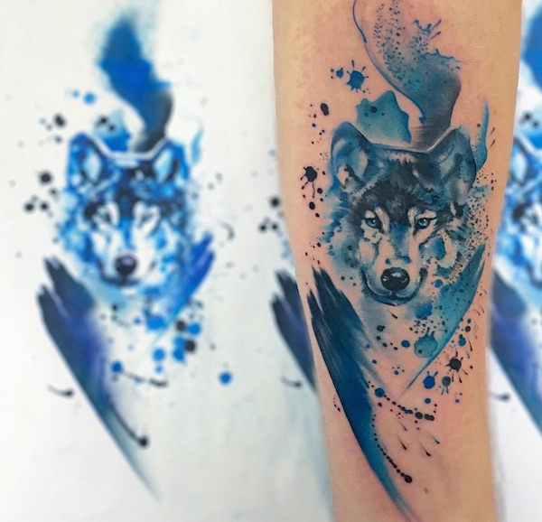 Vibrant Fluid Tattoos Of Animals That Look Like Pretty Watercolor Paintings