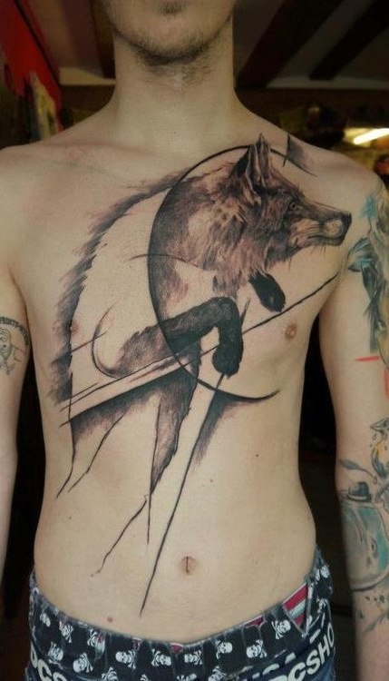 abstract-wolf-tattoo-ideas