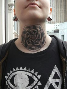 Geometric Tattoo Neck Ideas