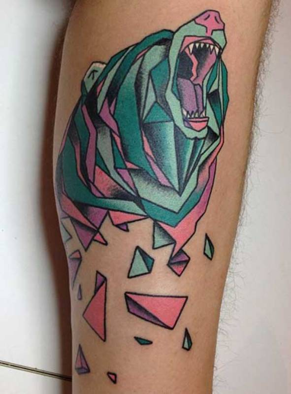 leg-geometric-panda-tattoos