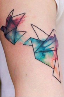 Geometric Tattoo Origami ideas