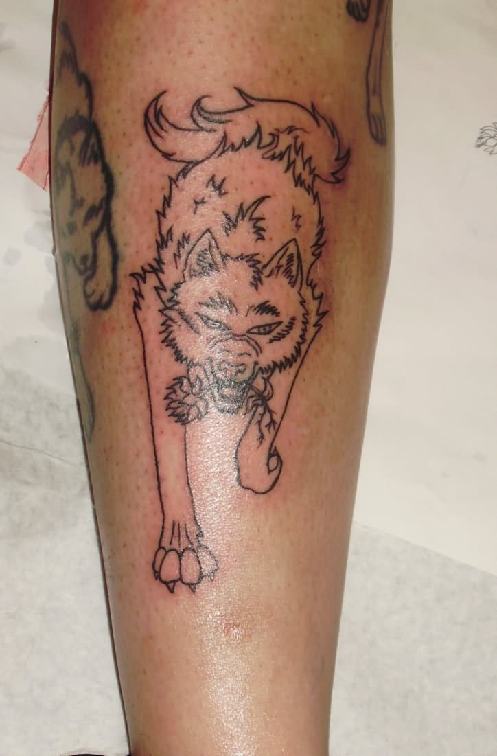 small-wolf-tattoos-for-women-leg