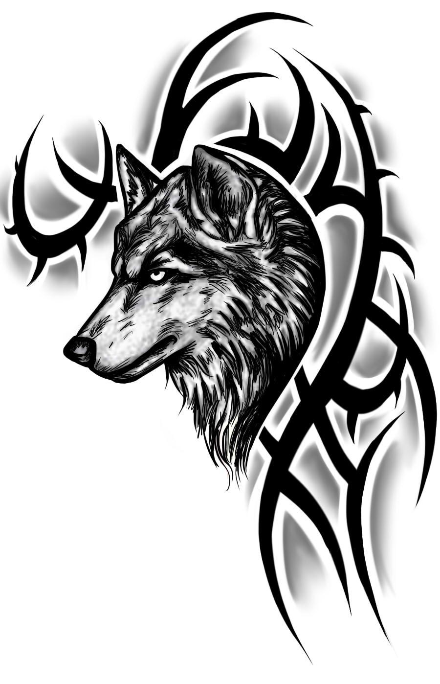 tribal-wolf-tattoo-designs