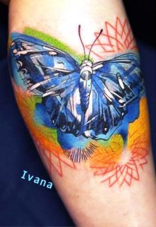 Geometric Tattoo Butterfly Ideas