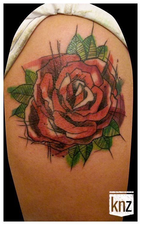 watercolor-rose-tattoo-sketch