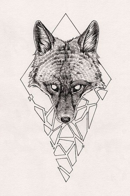 wolf-head-sketch-tattoo