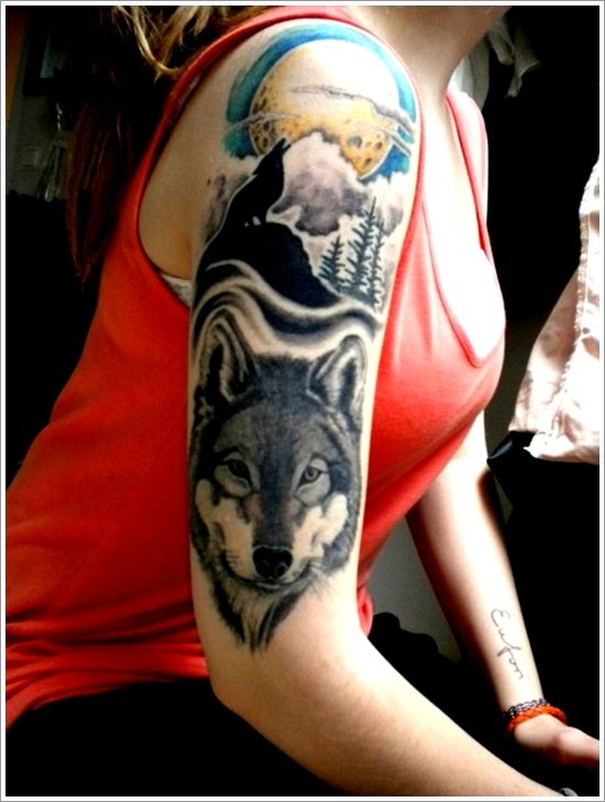 wolf-sleeve-tattoo-design