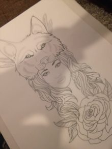 Wolf Tattoo Outline Ideas