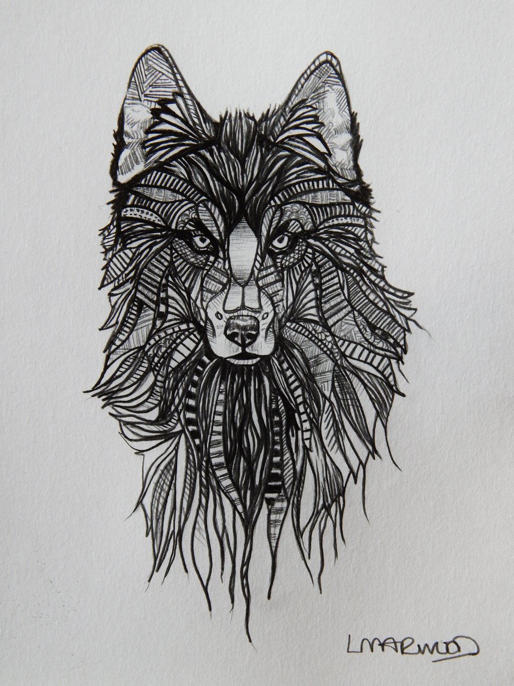 wolf-tattoo-sketches
