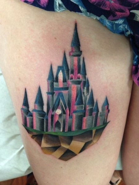 Disney Castle Tattoo 2010