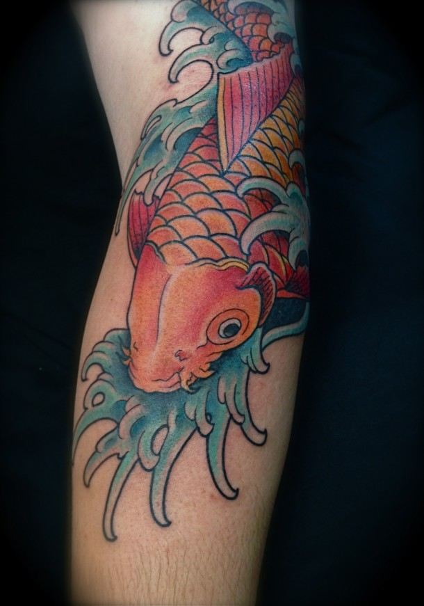 Koi Fish Tattoo Forearm