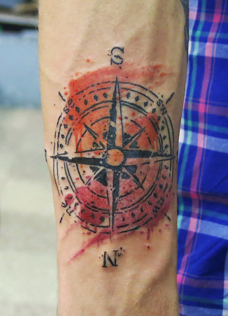 Pocahontas Compass Tattoo New