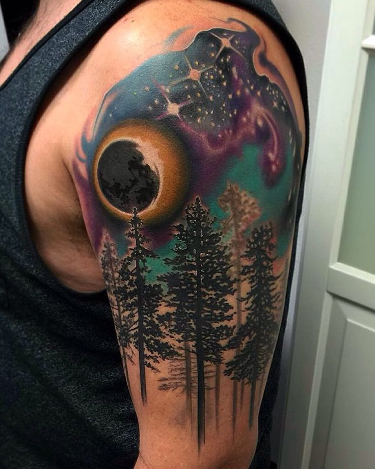 Star Night Sky Tattoo