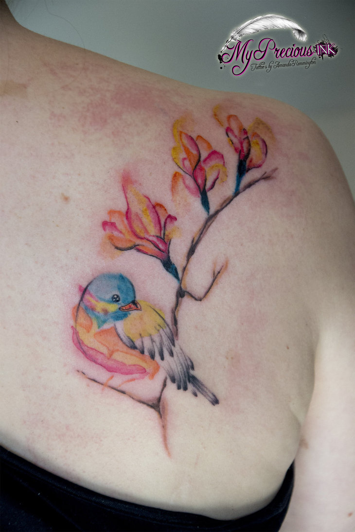 Watercolor Bird Tattoos
