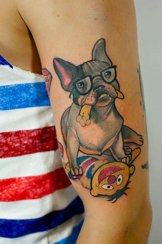 Watercolor Dog Tattoo Ideas
