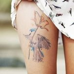 Floral Watercolor Tattoos Ideas
