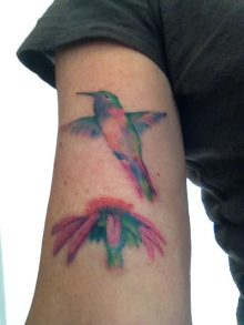 Watercolor Tattoos Hummingbird Ideas
