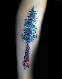 Watercolor Tattoos Cross Ideas